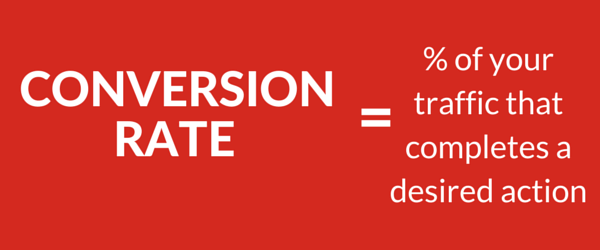 Conversion rate=