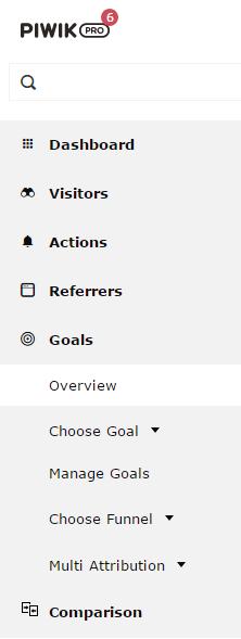 Piwik PRO Goals Report