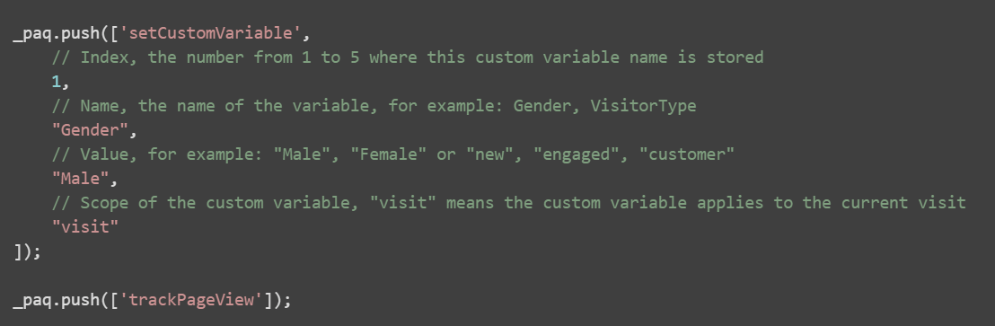 creating custom variable