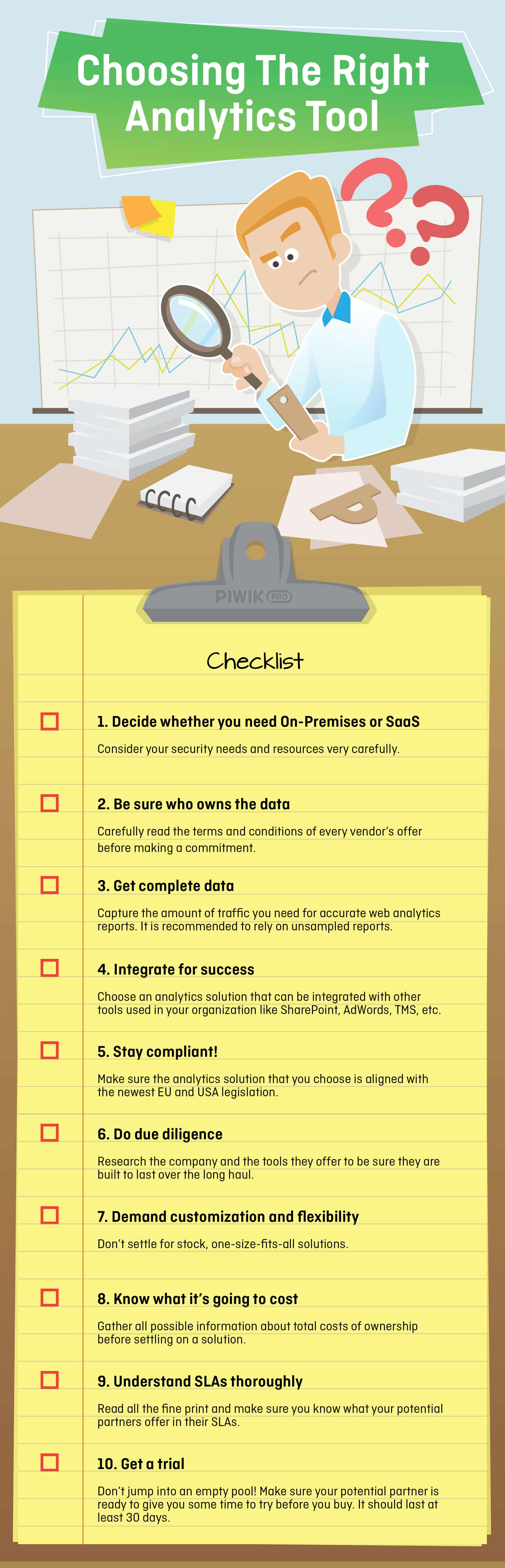 Choosing Web Analytics Checklist