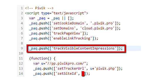 HTML code of the tested elements