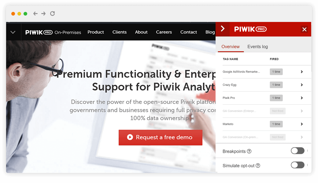 Meet our friendly Piwik PRO Tag Manager